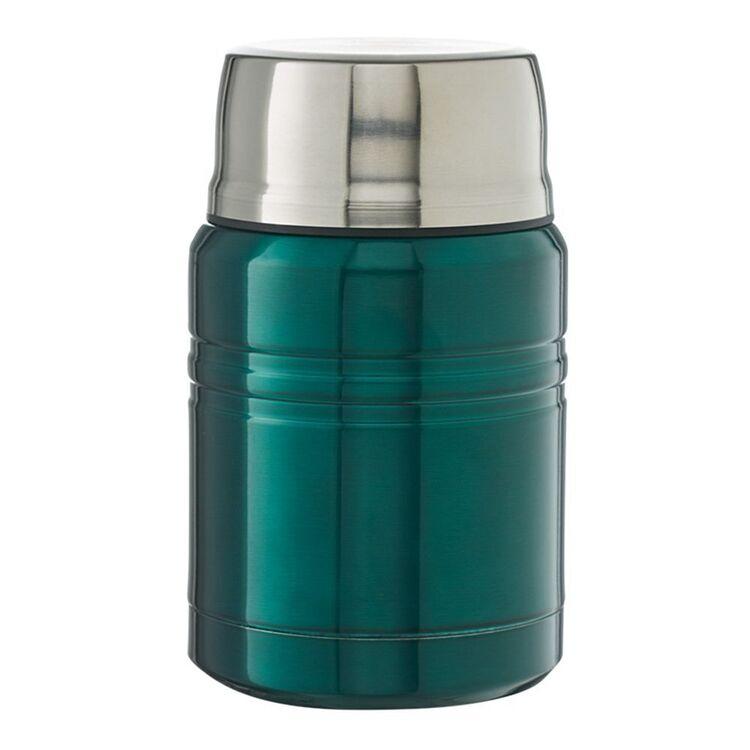 SMITH & NOBEL Stainless Steel Green Food Jar 500ml