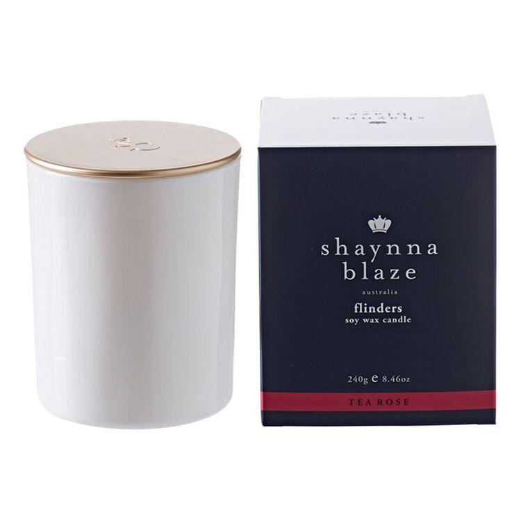 SHAYNNA BLAZE Flinders Tea Rose Candle 240g