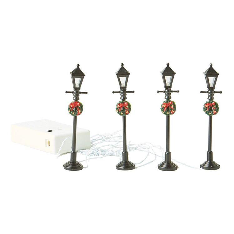 LEMAX General Gas Street Lamp Set of 4