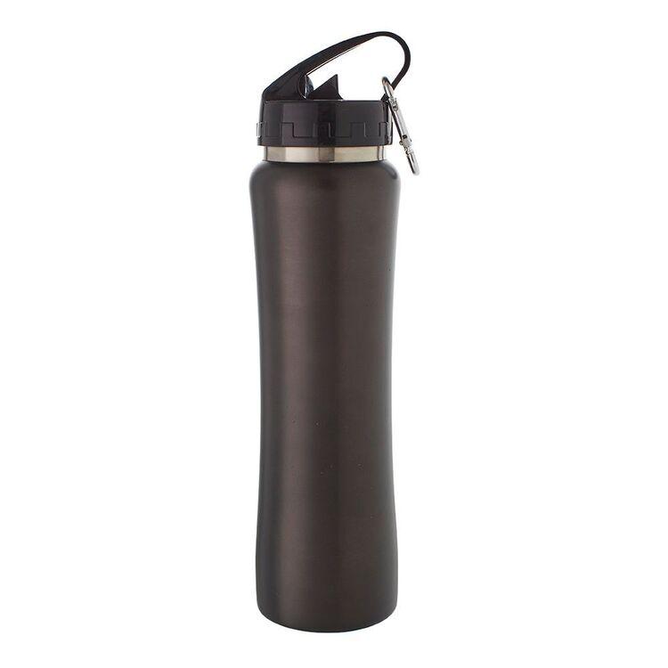 SMITH & NOBEL Double Wall Straw Bottle Black 500ml