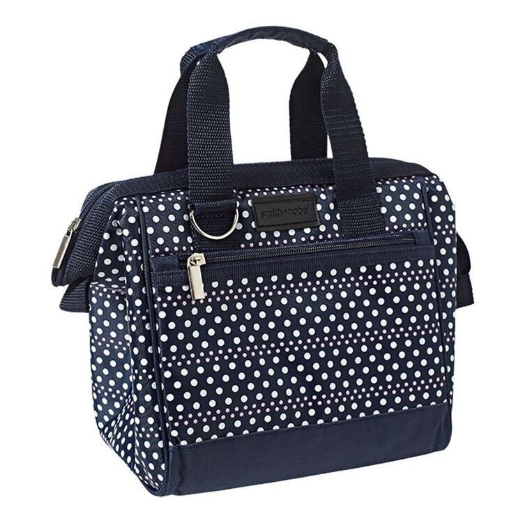 SMITH & NOBEL Insulated Lunch Bag Navy/Dots