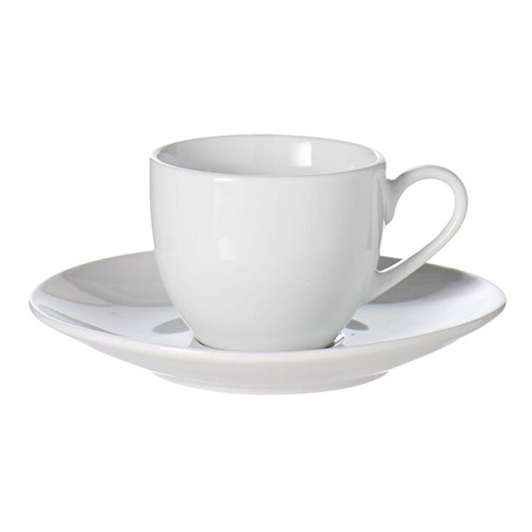 SOREN Alton Espresso Cup and Saucer White