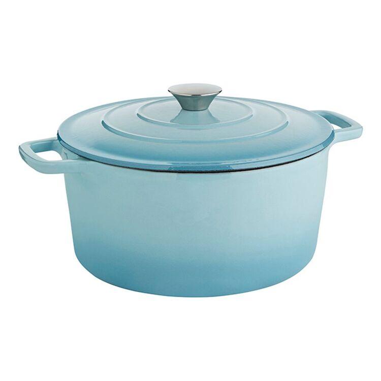 SMITH & NOBEL Traditions Cast Iron Casserole Blue 5L