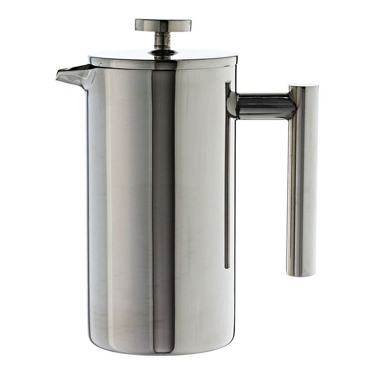 TRAMONTINA Double Wall Stainless Steel Coffee Plunger 6 Cup