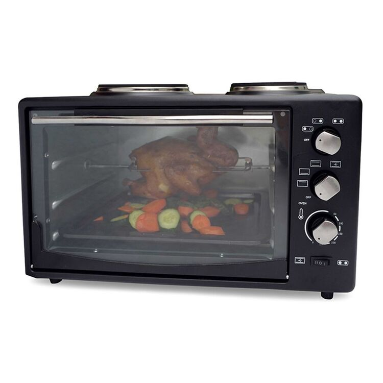 HEALTHY CHOICE PORTABLE 34L OVEN WITH 2 BURNERS EO425R