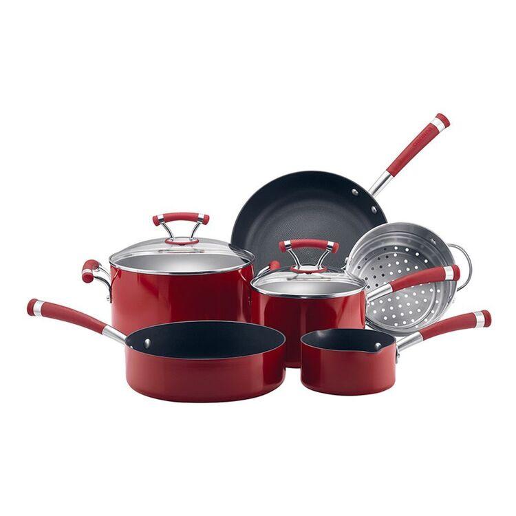 CIRCULON Contempo 6pc Aluminum Red Cookset