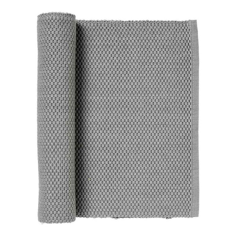 JUST HOME RIBBED RUNNER GREY 33X150CM