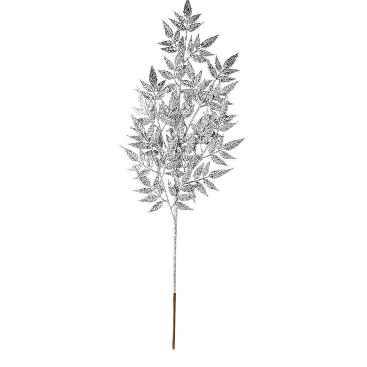 SOREN Glitter Leaves Pick Silver