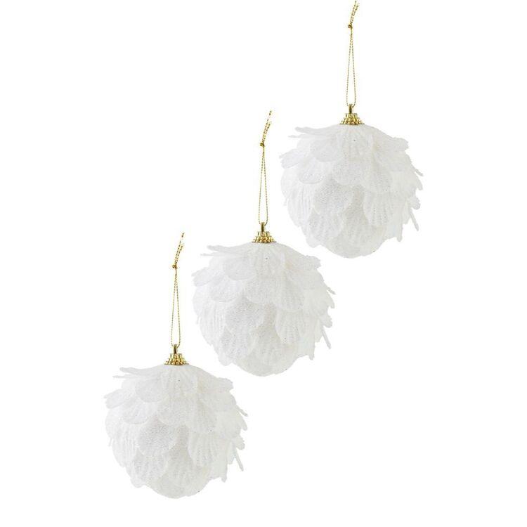 SOREN 3pc Petal Ornament White