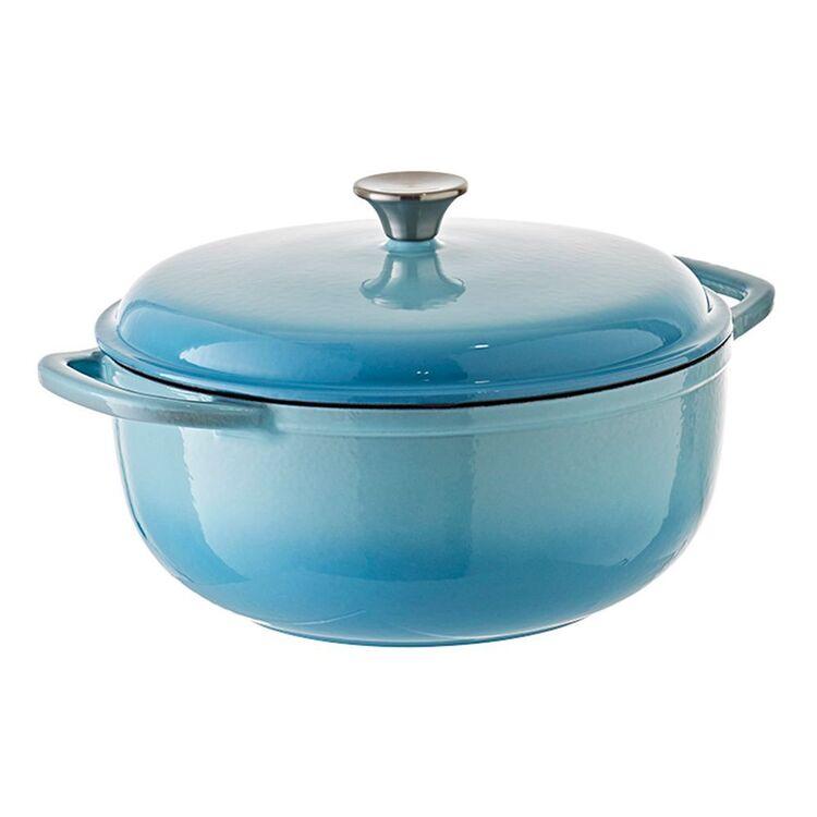 SMITH & NOBEL Tradition Cast Iron Casserole Blue 6L