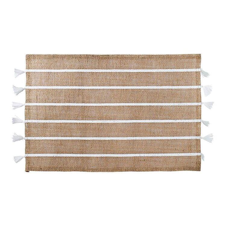 SHAYNNA BLAZE White Stripe Placemat 45cm
