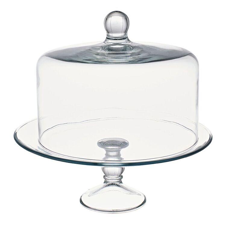 LIBBEY SELENE 2PC GLASS CAKE DOME SET
