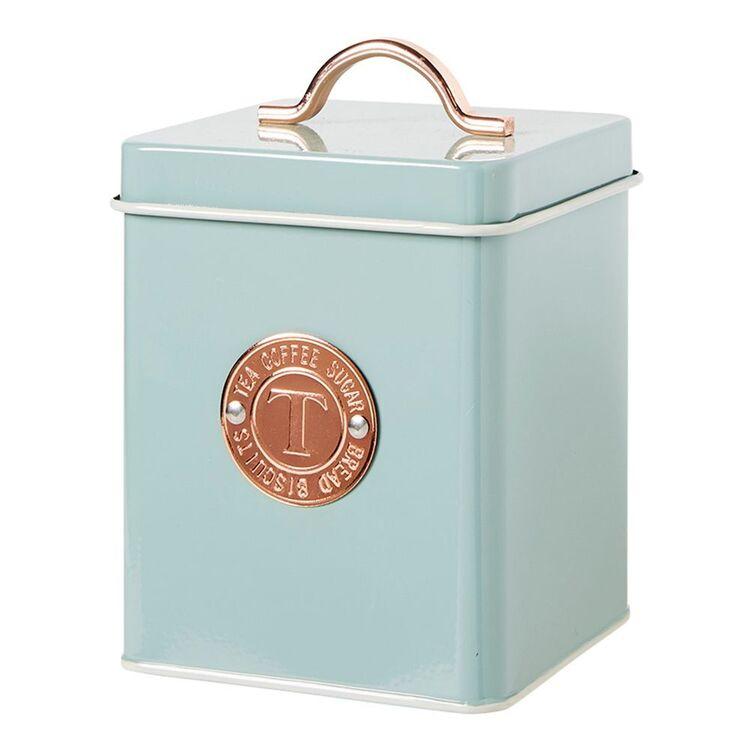 HEIRLOOM GOODS Canister Tea Badge Green 11x17cm