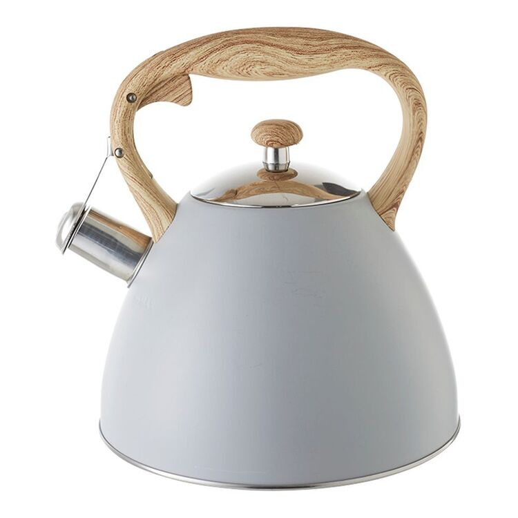 SMITH & NOBEL CONICAL STAINLESS STEEL KETTLE GREY 2.3L
