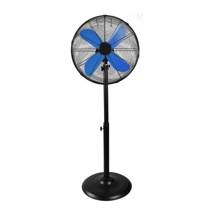 URBANE HOME 40cm Matte Black Pedestal Fan - Blue