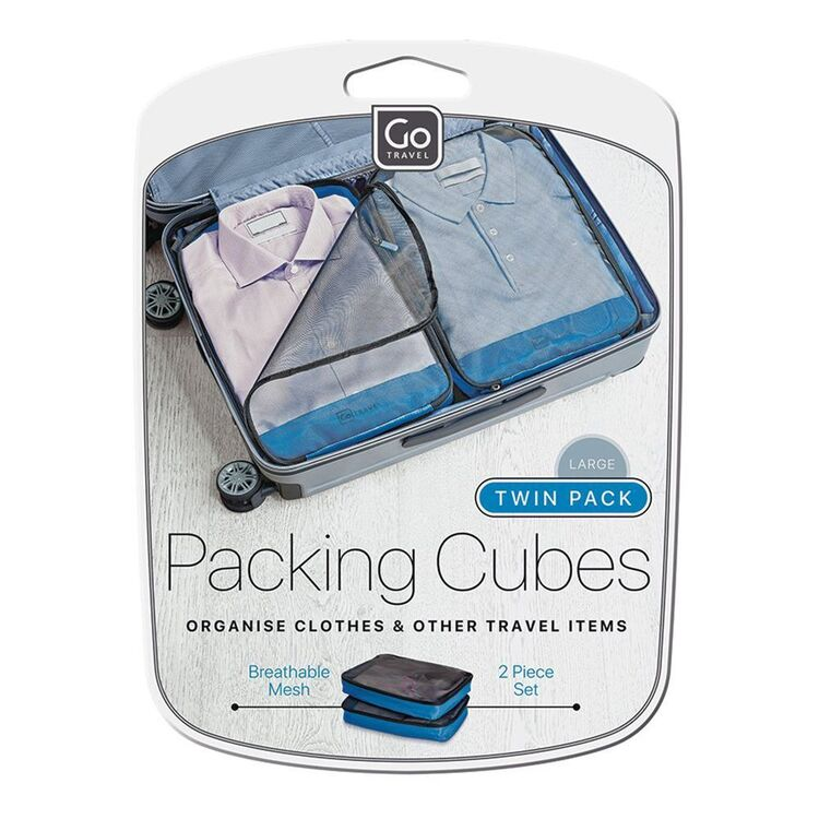 GO TRAVEL TWIN LARGE LUGGAGE PACKING CUBES