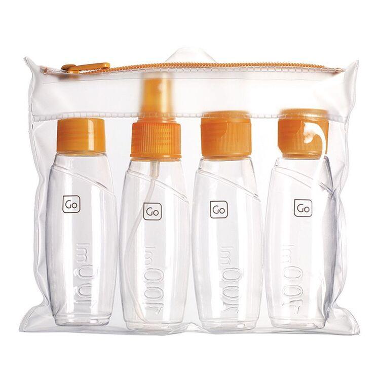 GO TRAVEL Travel Cabin 4pc Bottle Set