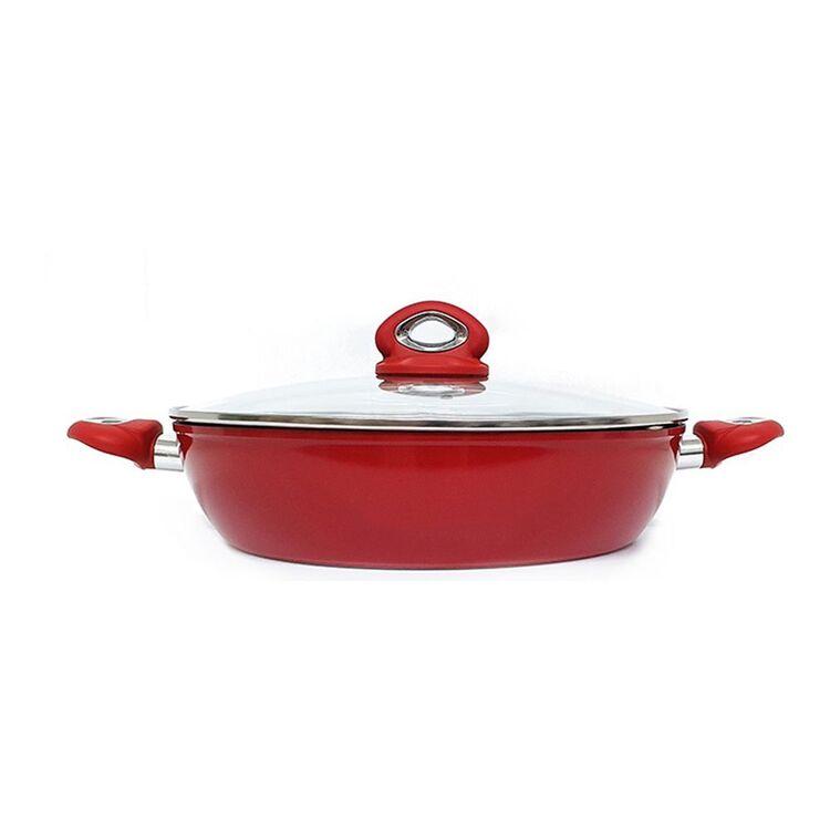 BIALETTI Piu Gusto Red Chefs Pan 32cm