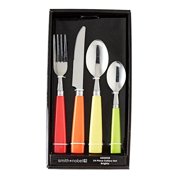 SMITH & NOBEL Adorne 24pc Cutlery Set Brights