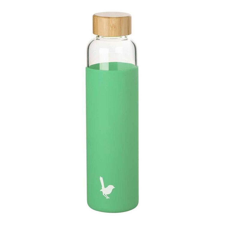 MOZI GLASS BOTTLE WITH SILICONE WRAP GREEN 600ML