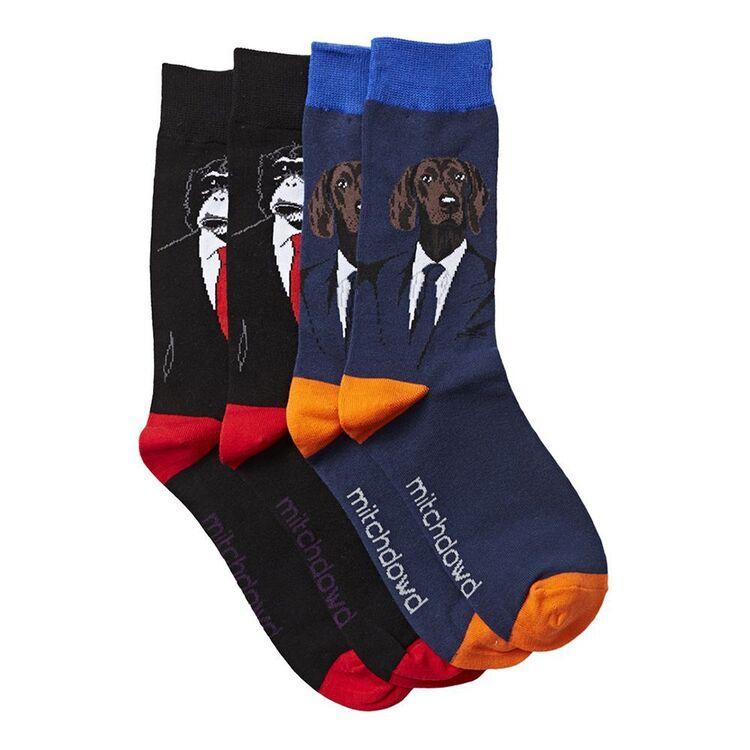 MITCH DOWD 2pk Hound and Monkey Socks