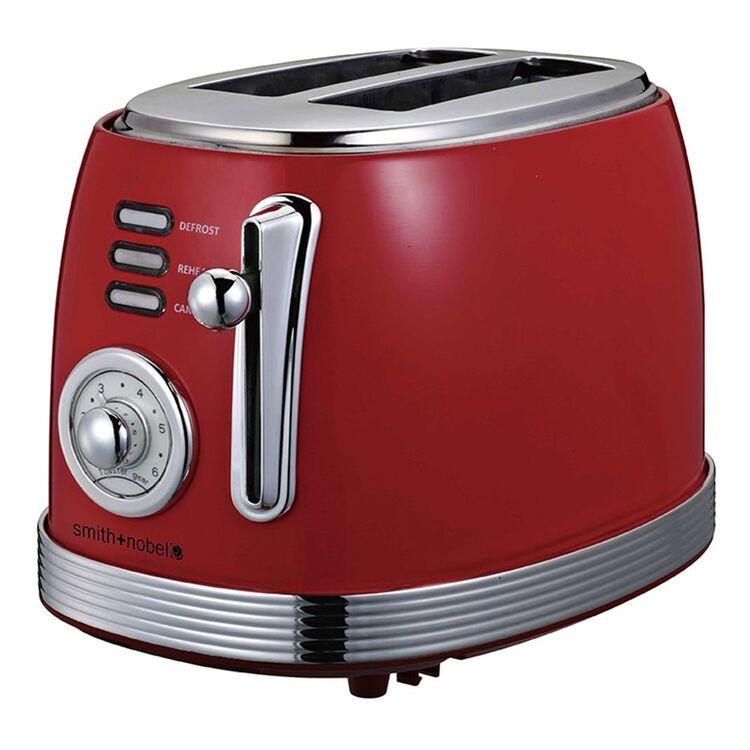 SMITH & NOBEL Retro 2 Slice Toaster Red