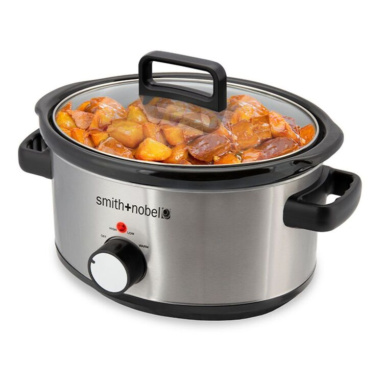 SMITH & NOBEL 6L Slow Cooker Stainless Steel