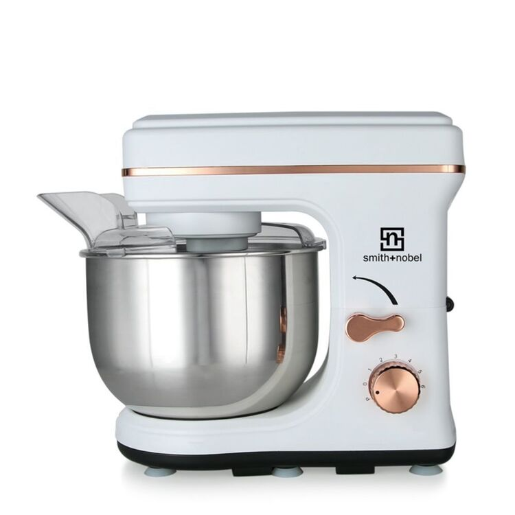 SMITH & NOBEL STAND MIXER WHITE AND ROSE GOLD HSM-16WG