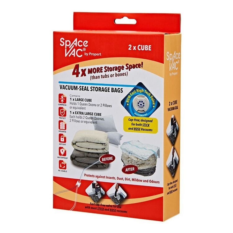 SPACE VAC Cube Bag x2