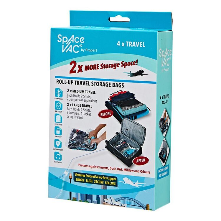 SPACE VAC Travel Bag x4