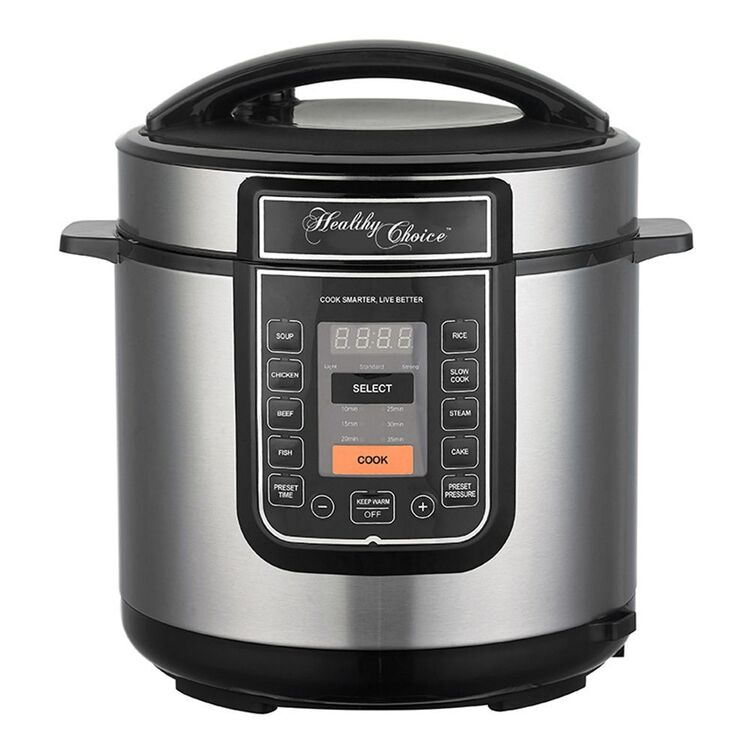 HEALTHY CHOICE PRESSURE COOKER STAINLESS STEEL PC600S