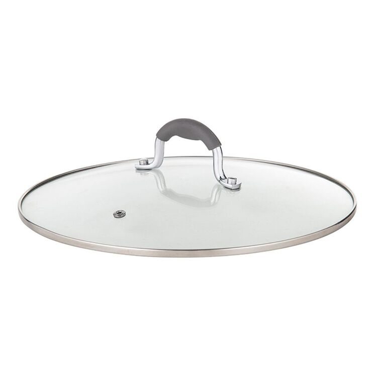Davis And Waddell DAVIS AND WADELL GLASS LID WITH SILCONE HANDLE 26CM