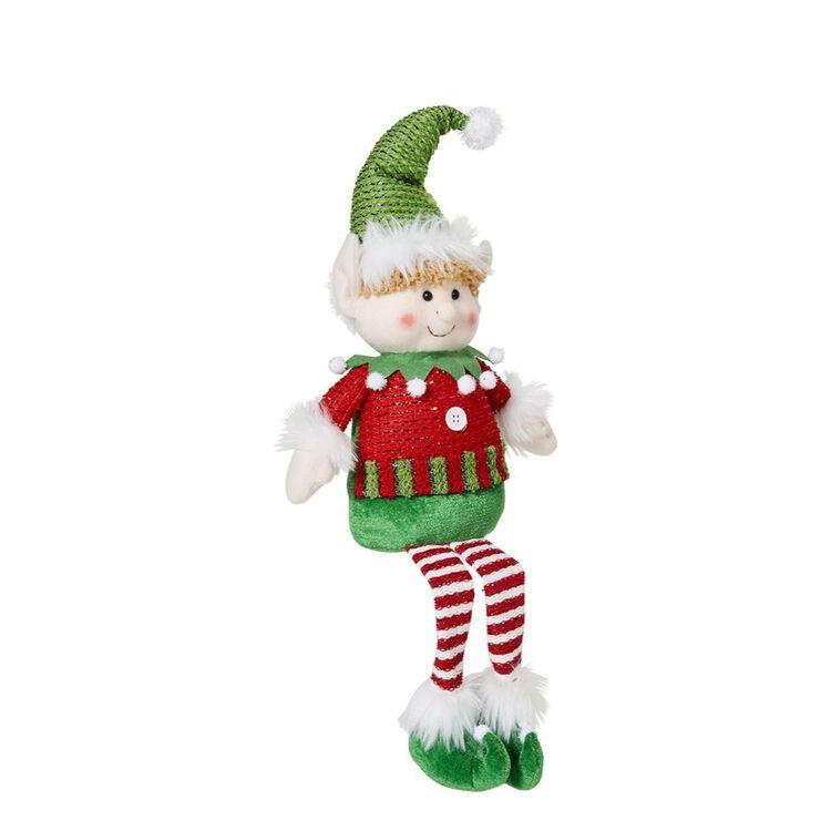 SOREN Sitting Elf with Green Hat 50cm