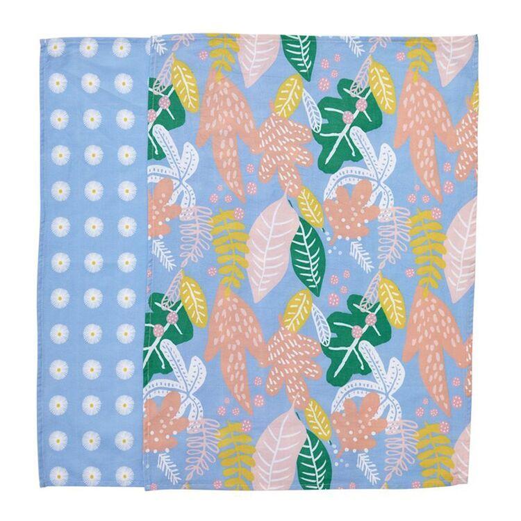 MOZI Leaf Party Tea Towel Set 50x70cm