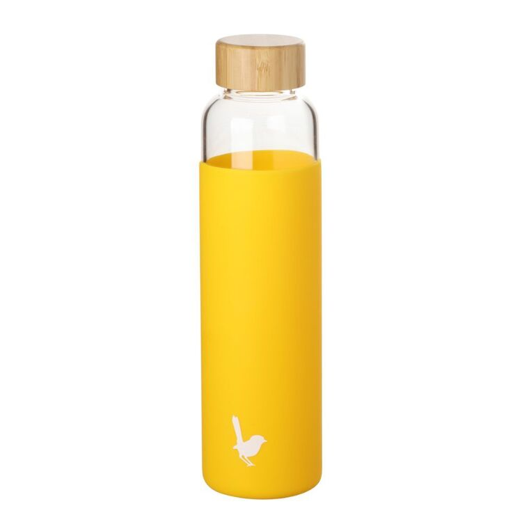 MOZI GLASS BOTTLE WITH SILICONE WRAP YELLOW