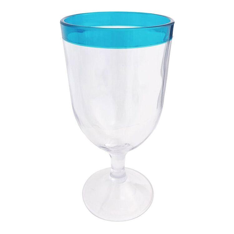 SHAYNNA BLAZE PORTSEA MELAMINE RIM WINE GLASS