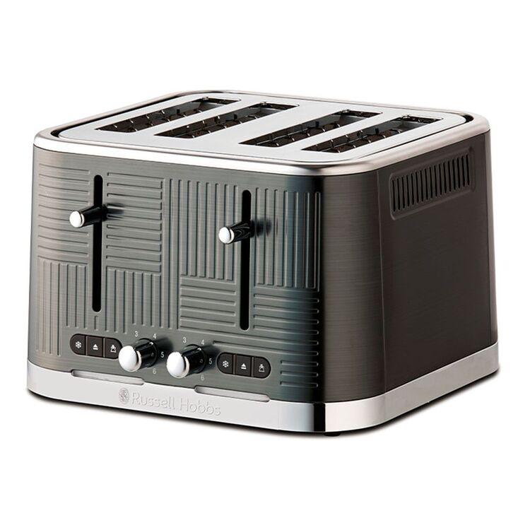 RUSSELL HOBBS Geo Steel Toaster 4 Slice Black
