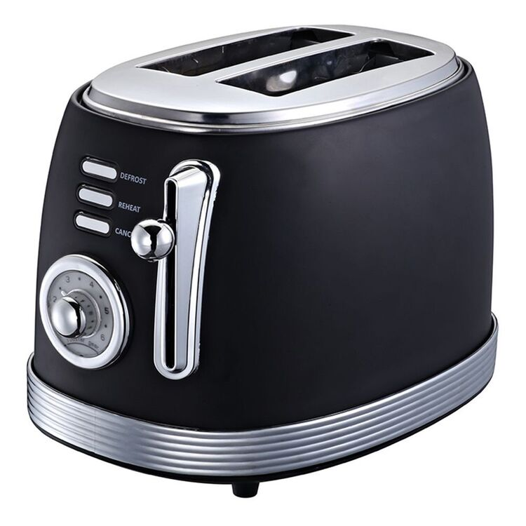 SMITH & NOBEL 2 Slice Retro Toaster Black