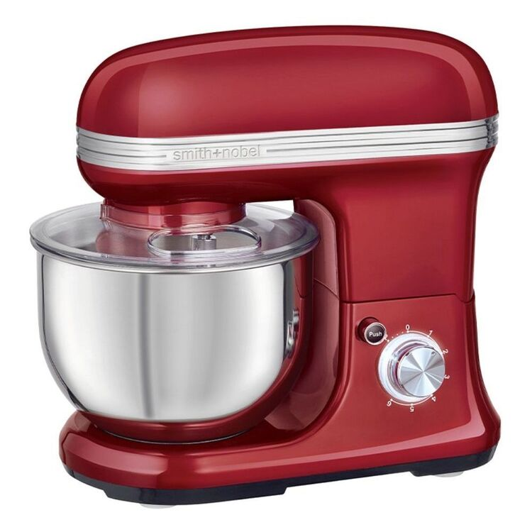 SMITH & NOBEL 5L Planetary Stand Mixer Red