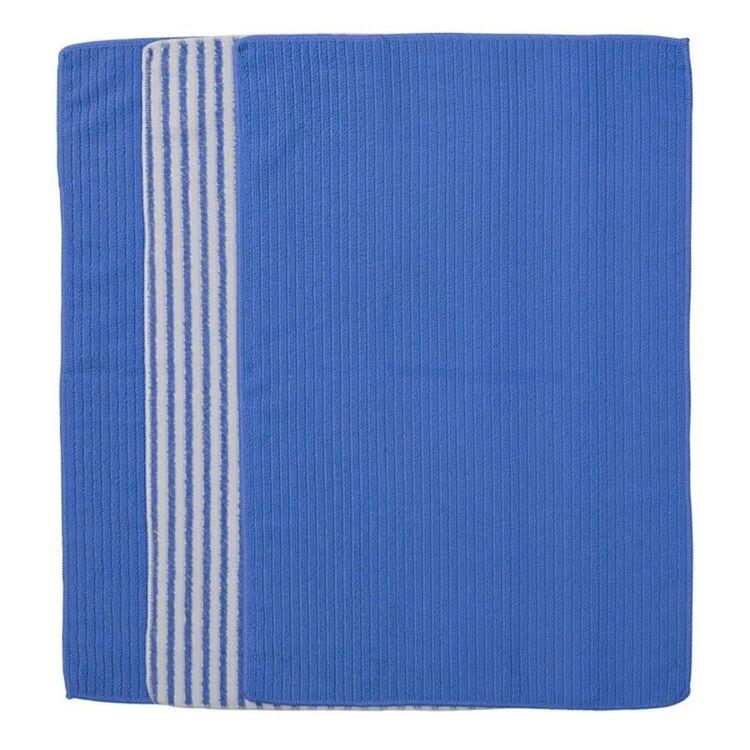 URBANE HOME MICROFIBRE 3PK TEA TOWEL BLUE STRIPE