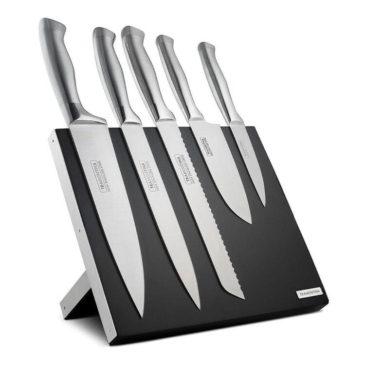 TRAMONTINA 6PC POLARIS KNIFE BLOCK