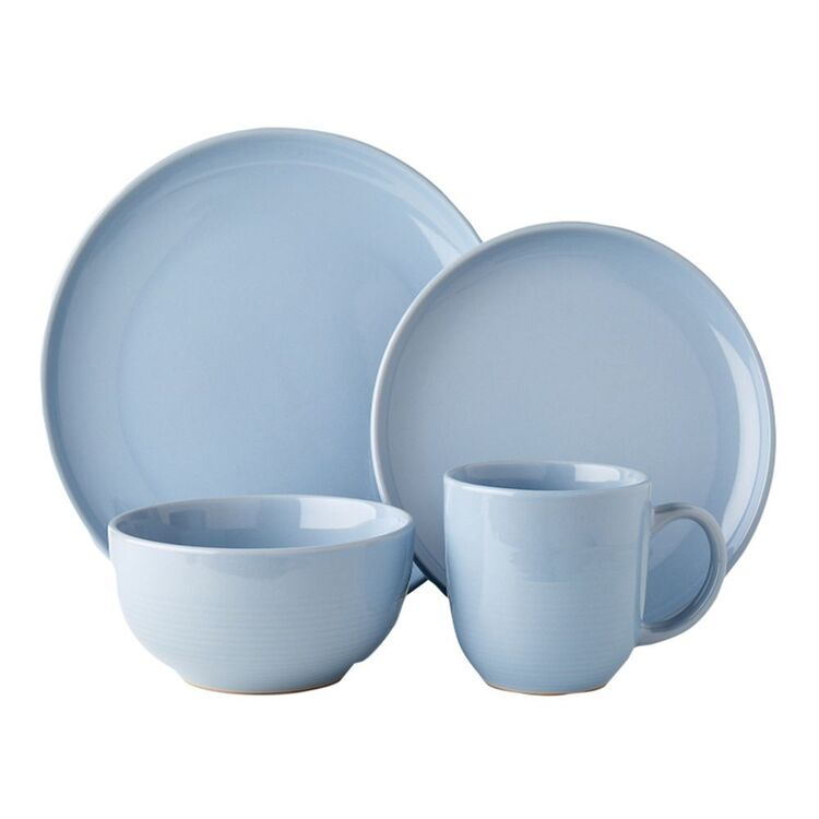 SHAYNNA BLAZE BEACHPORT 16PC DINNER SET BLUE