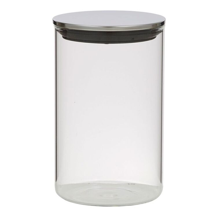 Davis And Waddell DAVIS AND WADELL GLASS CANISTER WITH STAINLESS STEEL LID1.1L