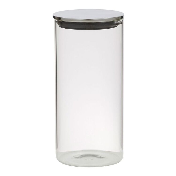 Davis And Waddell DAVIS AND WADELL GLASS CANISTER WITH STAINLESS STEEL LID1.4L