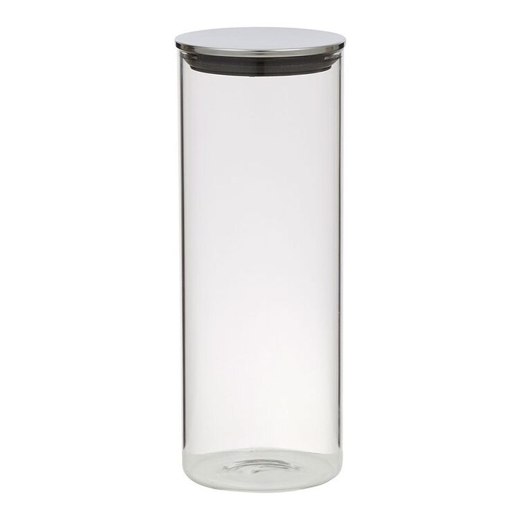 Davis And Waddell DAVIS AND WADELL GLASS CANISTER WITH STAINLESS STEEL LID1.8L