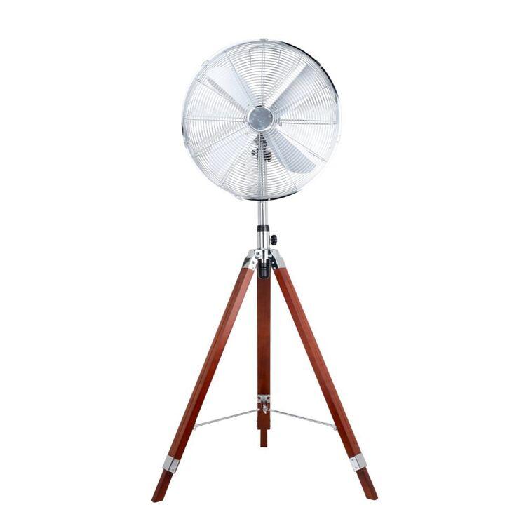 NORDIC Tripod Pedestal Fan with Wooden Legs