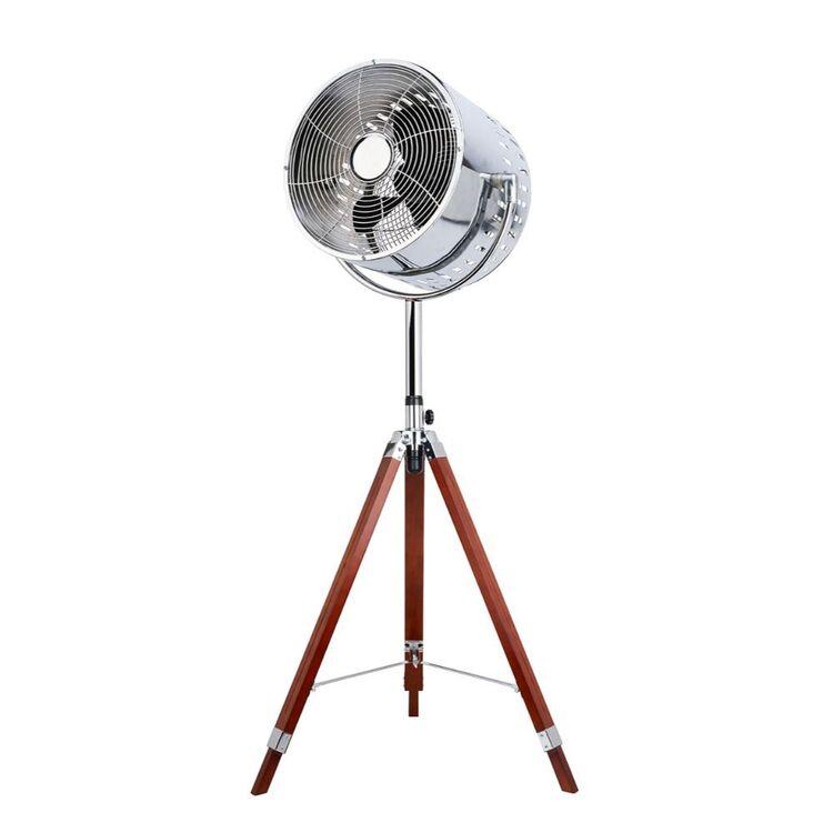 NORDIC Tripod Retro Pedestal Fan with Wooden Legs