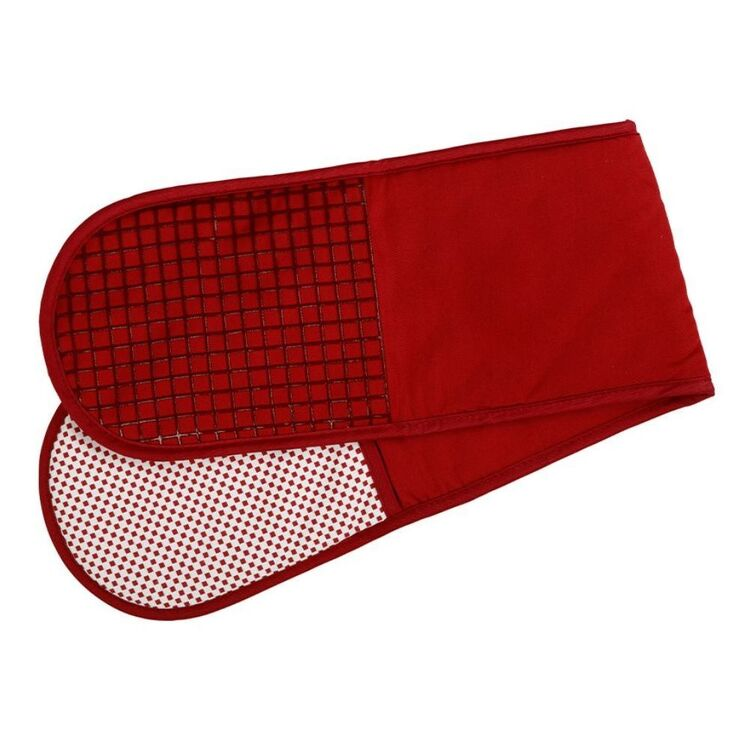 MAXWELL & WILLIAMS EPICURIOUS DOUBLE OVEN MITT RED
