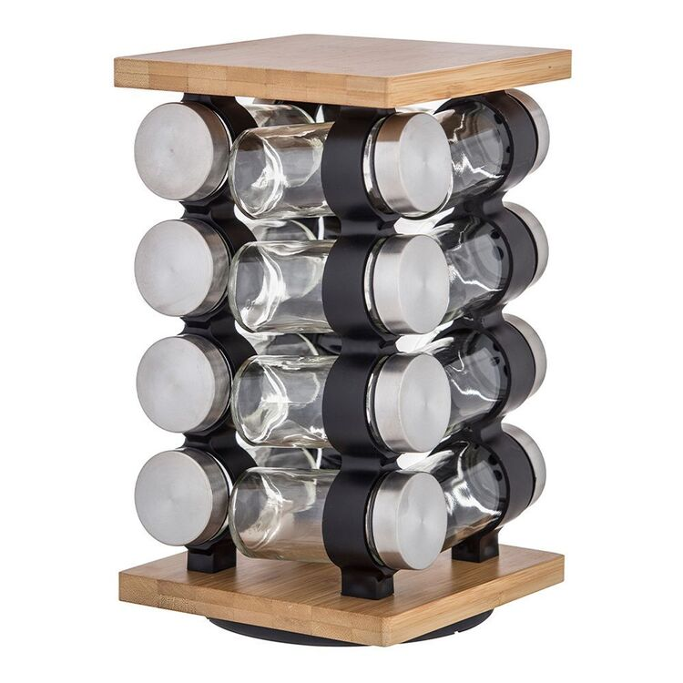 Davis And Waddell DAVIS AND WADELL SPICE JAR WITH RACK 16PC