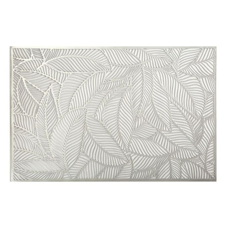 MAXWELL & WILLIAMS PLACEMAT 45X30CM LEAF SILVER